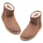 UREVO Casual Wool Boots Brown 40
