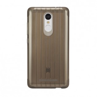 Xiaomi Redmi Note 3 Non Slip Silicone Protective Case Transparent Brown