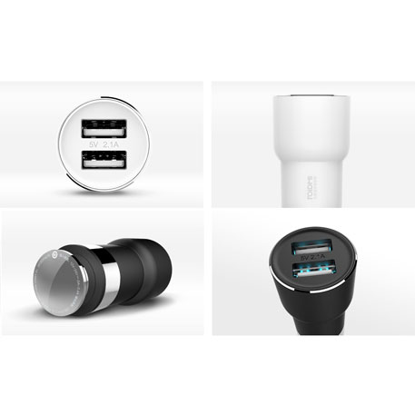 RoidMi 5 in 1 Music Bluetooth Car Charger 2S Smart Drive BFQ02RM White